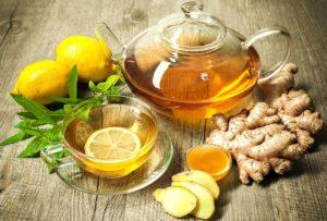 чай и корень имбиря